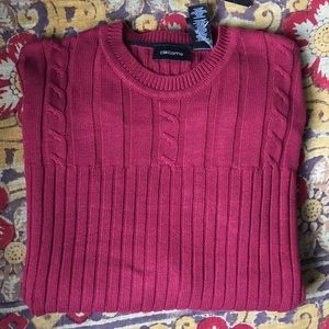 NWT Claiborne Crewneck cable rib Knit Sweater